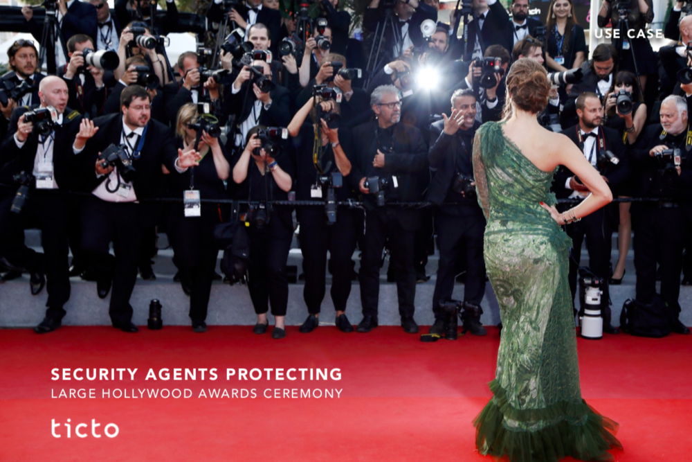 Hollywood Awards Ceremony - The security services firm protecting Hollywood's largest awards ceremony was looking for a solution to better be able to instantly and visible recognize authorized security agents. For this event the firm uses a mix of their own staff, Off-Duty-Officers and security agents provided by subcontractors...