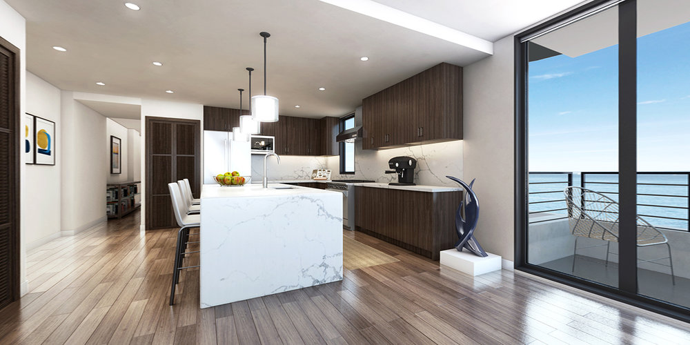 3 bedroom luxury condos in Seattle - kitchen - The Pinnacle at Alki
