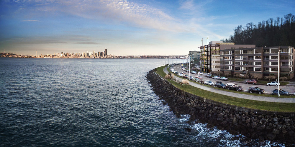 3 bedroom luxury condos in Seattle - water front condos- The Pinnacle at Alki