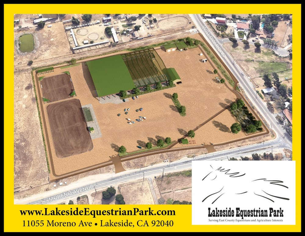 14 - Acre Lakeside Equestrian Park - Expected to break ground summer of 2019.