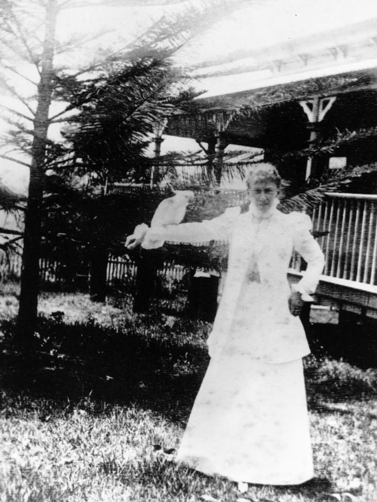 Lady Lamington with a cockatoo  Toowoomba ca. 1899