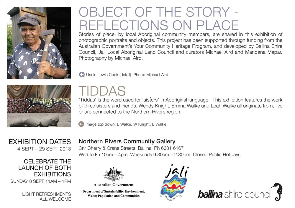 Object of the Story exhibition at the Northern Rivers Community Gallery