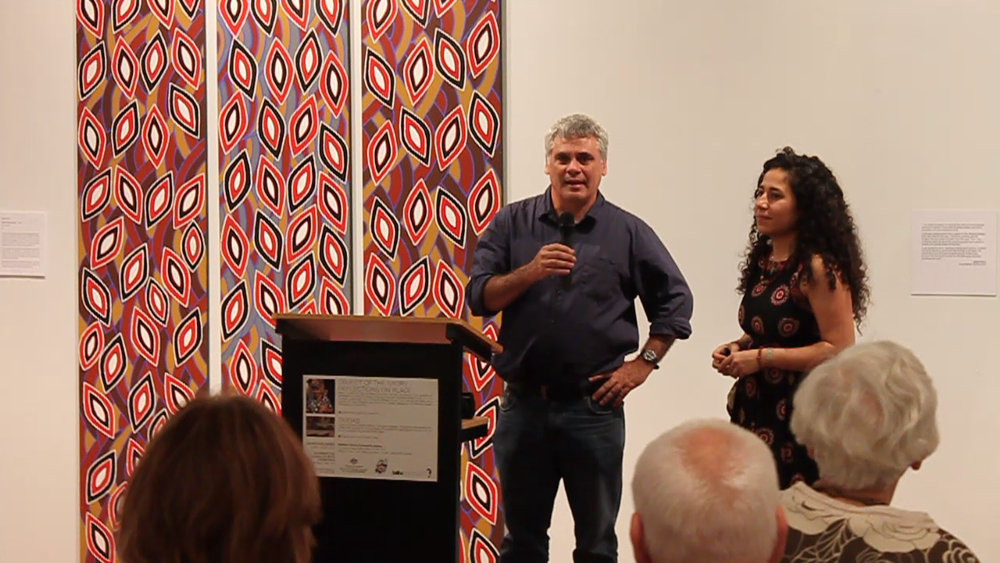 Curators Michael Aird and Mandana Mapar at the launch of Object of the Story