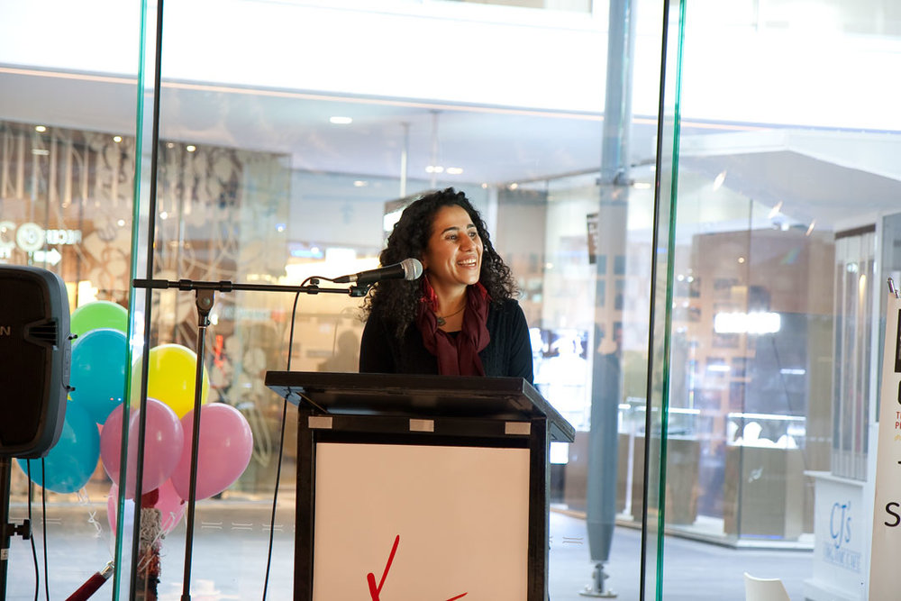 Mandana Mapar, curator at the launch of Captured! Surfers Paradise Festival, 2013