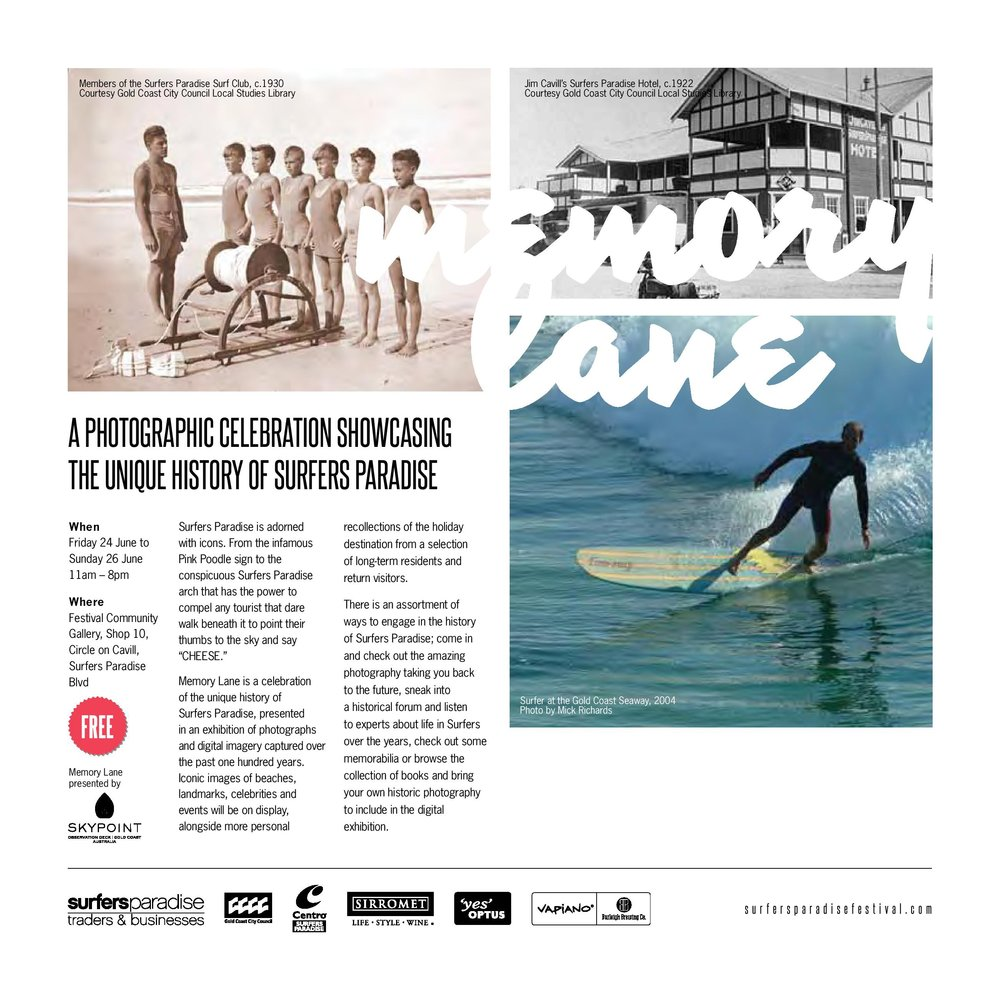 Memory Lane, Surfers Paradise Festival program