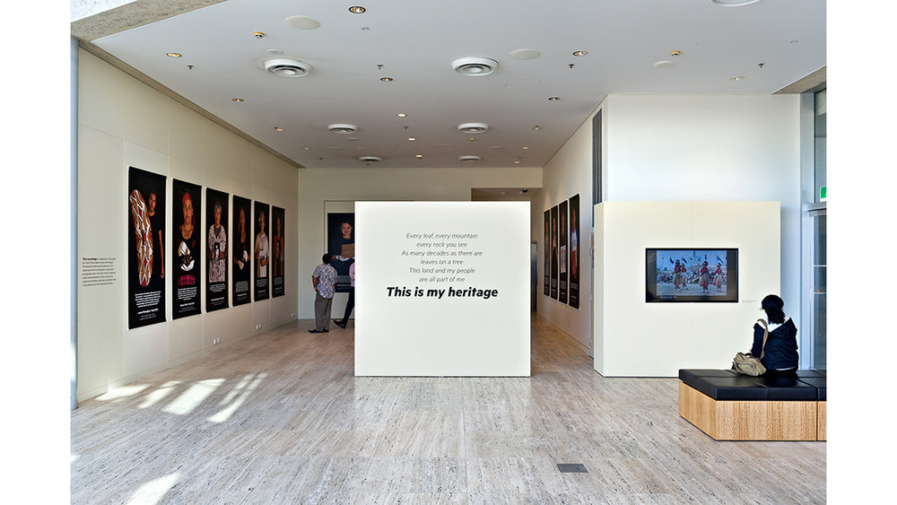 this-is-my-heritage installation view Queensland Museum