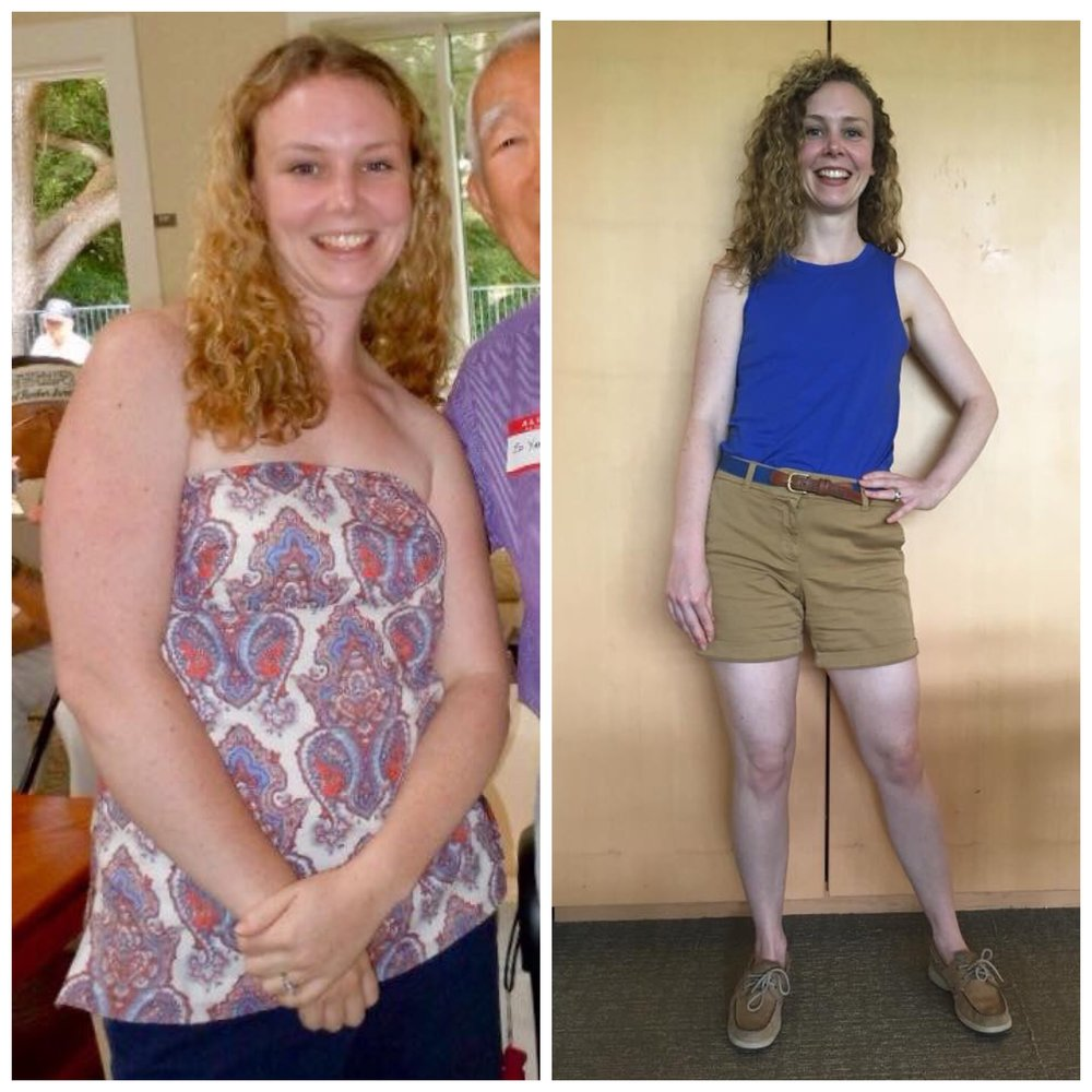 Kate T - Has released about 40lbs and 8 pants sizes working with me in the past 3 years. -