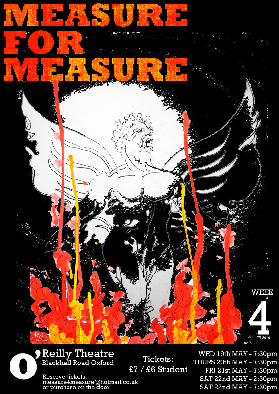 Design and artwork for 'Measure for Measure' poster, Oxford Production, 2010