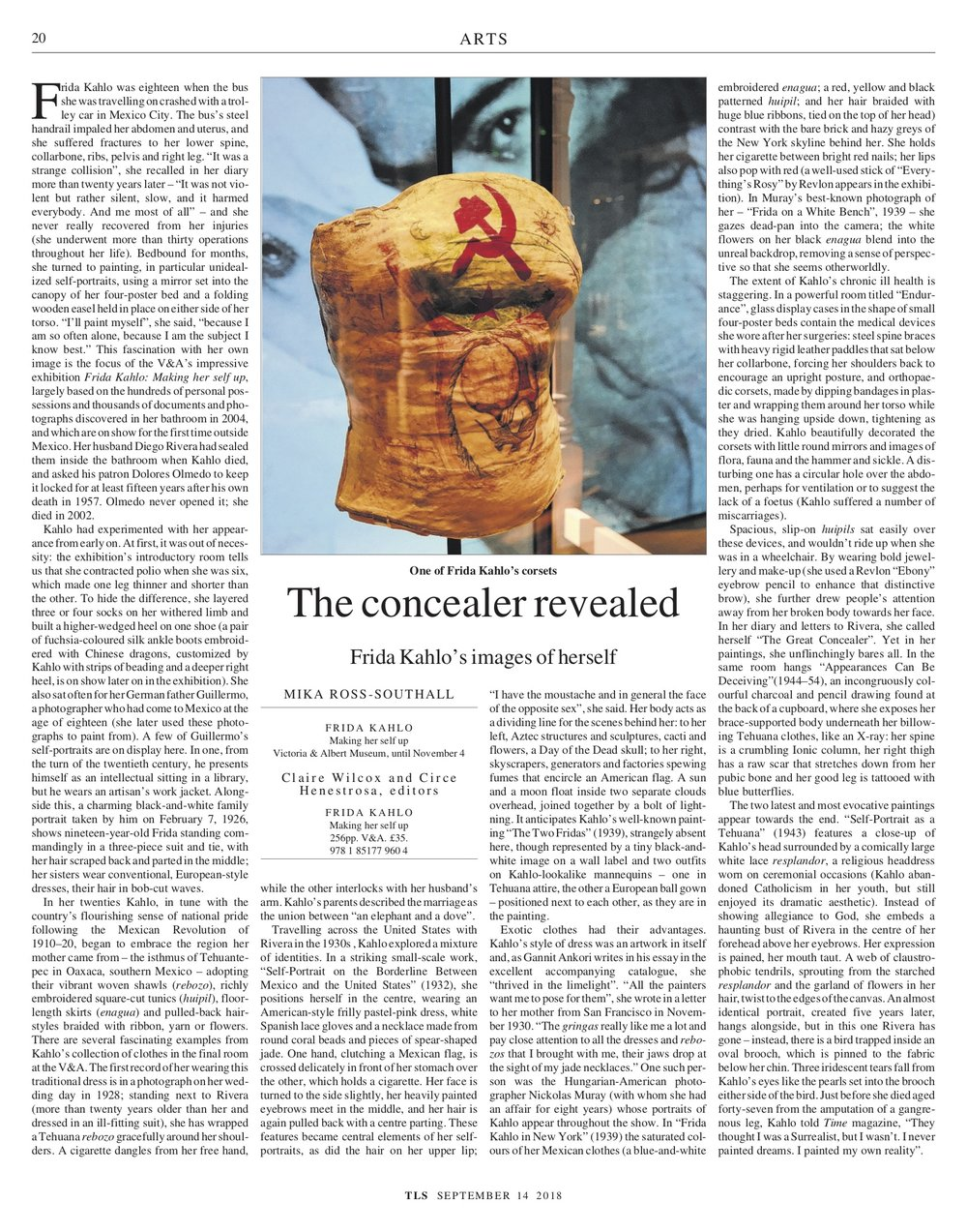 The concealer revealed, Published in The Times Literary Supplement (print & online), September 14, 2018