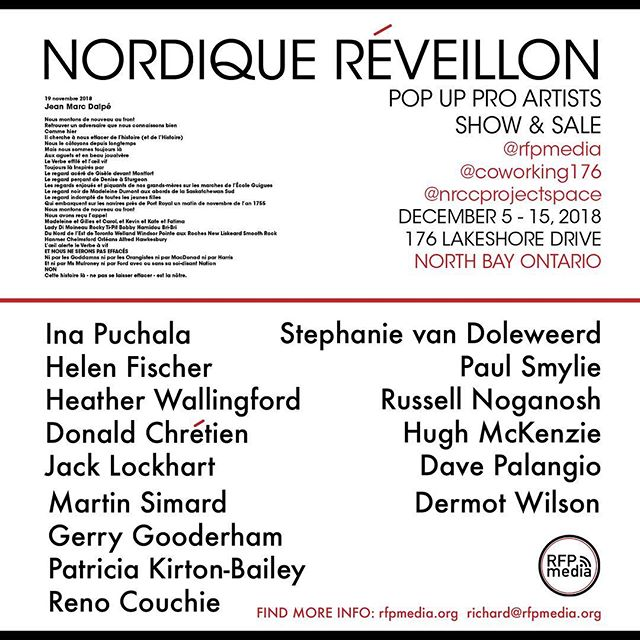 So nice to see the walls fill up with such beautiful #visualart today 🤩 @rfpmedia @nrccprojectspace  @blossom_early_learning @heartzapinc  #northbay NORDIQUE RÉVEILLON 🙌🏼 is a pop up pro artists show and sale running from 10AM to 6PM December 5-15. Come see and say hi! #holidaygifts