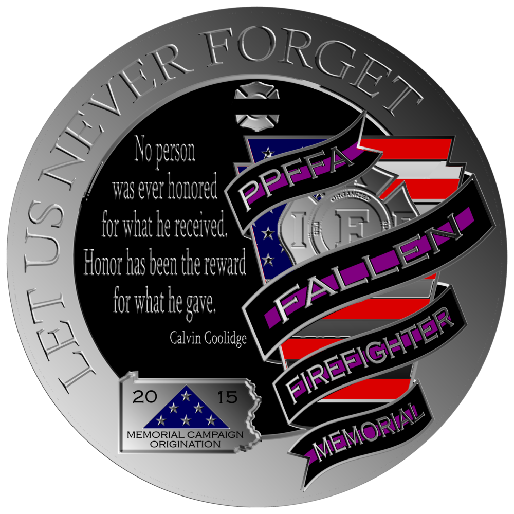 "Round Memorial Logo  Round ""Let Us Never Forget"" Memorial Logo"