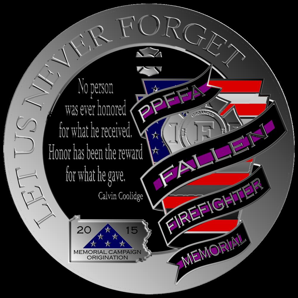 Round PPFFA Fallen FF Memorial Logo