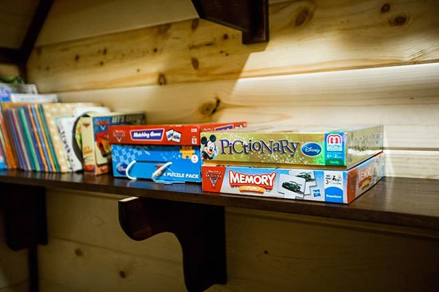 Most of our cabins are fully stocked with board games and fun things to do with friends and family. Book your stay today!