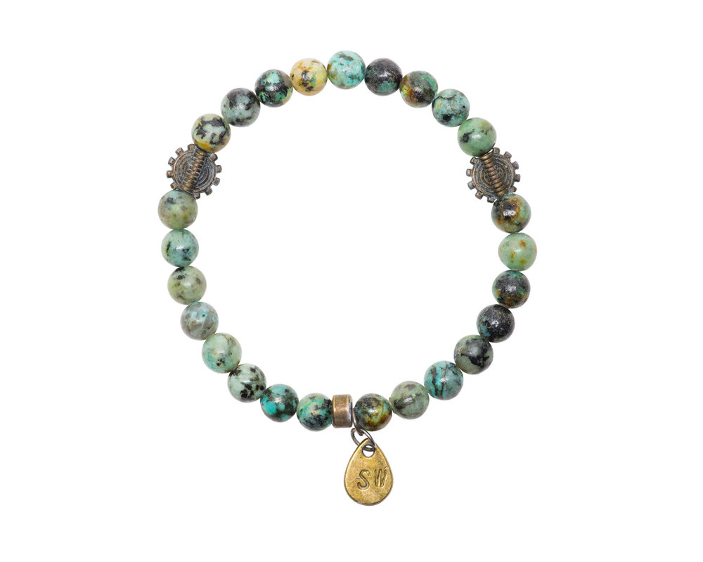 African Turquoise and Tribal Charms