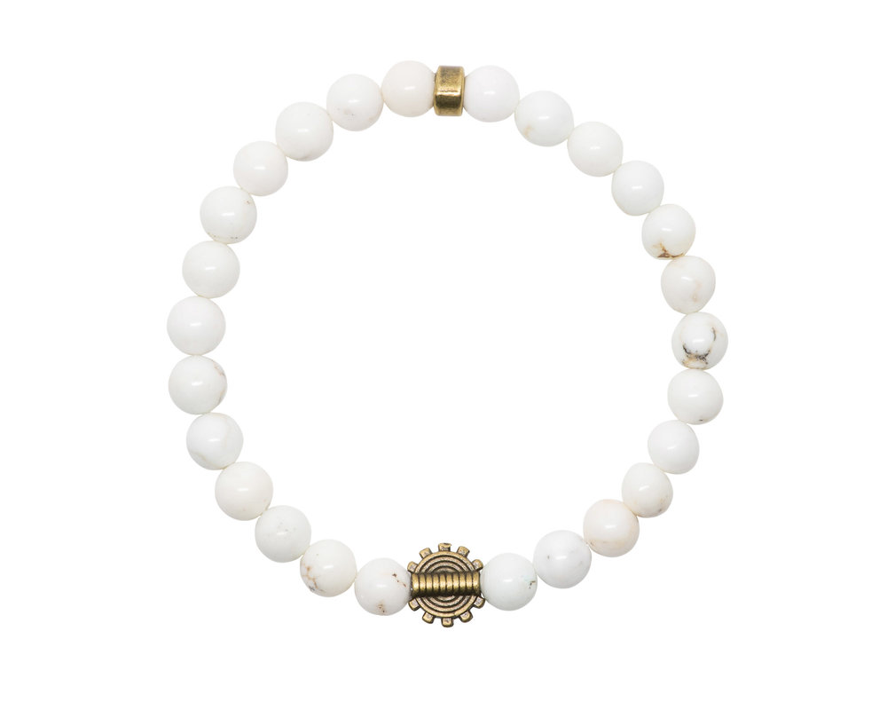 White Turquoise with Tribal Charm