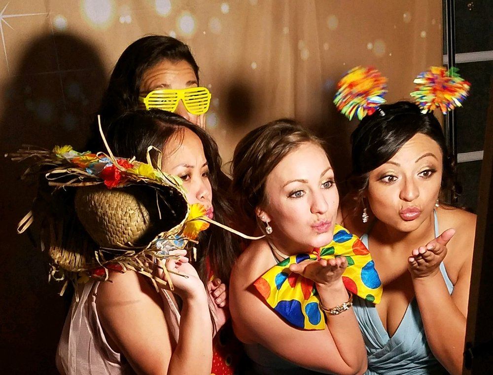 Great For Groups - Our Setup makes groups of 10 or more able to get just as great of photos as a couple in our photo booth setup.