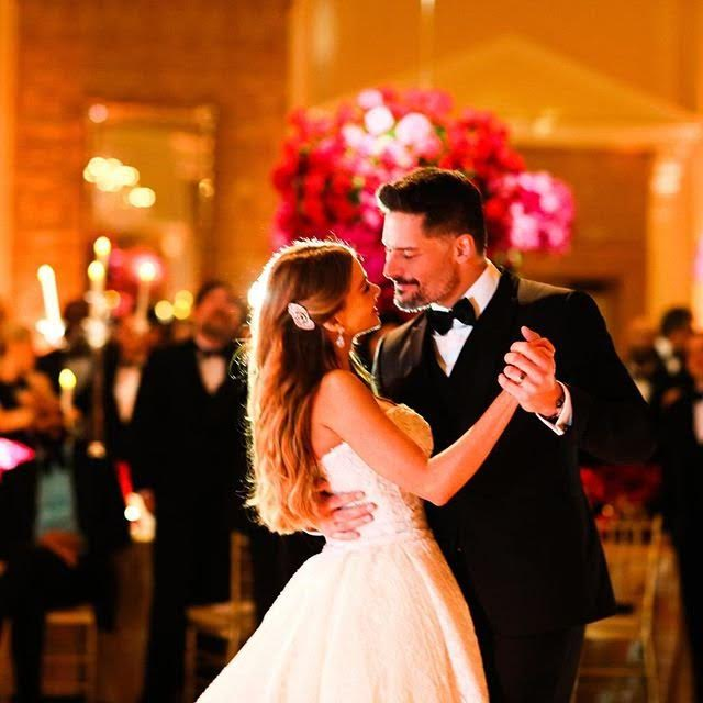 Photo by Popsugar A sweet first dance for the happy couple.