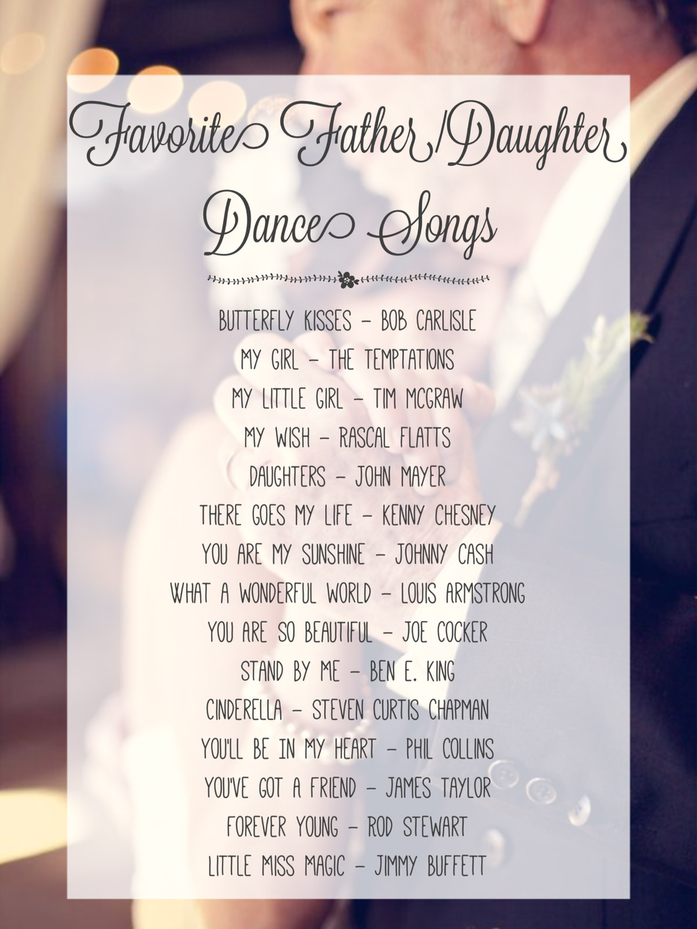 favorite father daughter dance songs indybride2b