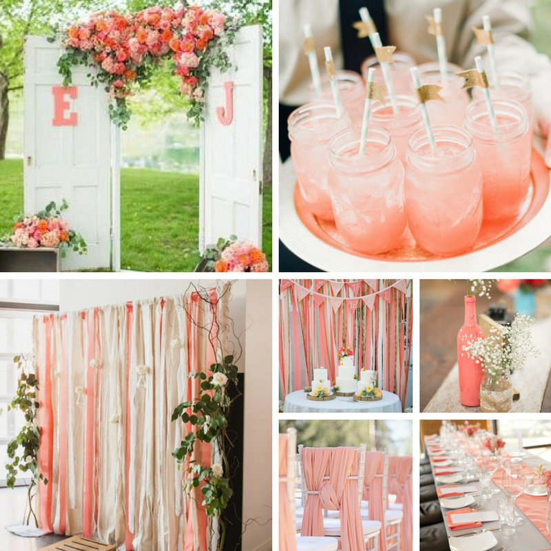 You Can Use Coral For Colorful Backdrops, Fruity Drinks To Keep Your Guests  Refreshed, Coral Drapes To Accent Your Chairs, And More!