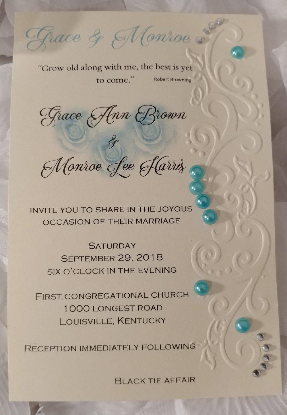 Tiffany Blue Wedding with Clear Gems Invitation.jpg