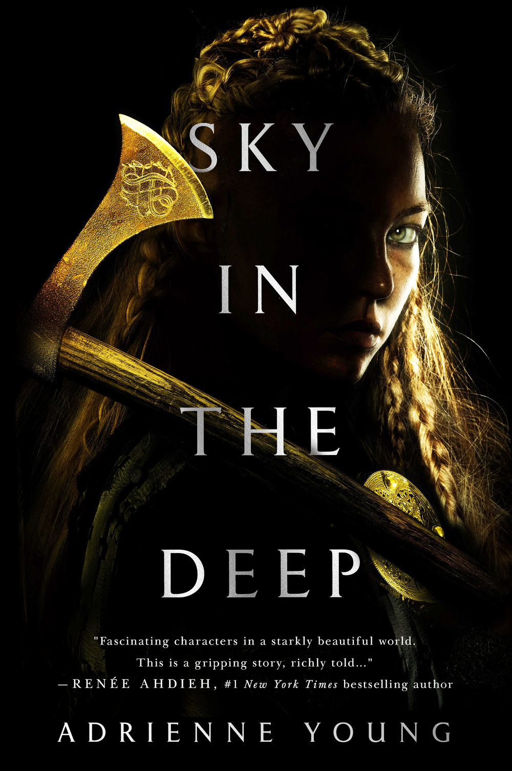 Happy book birthday to SKY IN THE DEEP by Adrienne Young! - A 2018 Most Anticipated Young Adult book that is part Wonder Woman, part Vikings―and all heart.OND ELDR. BREATHE FIRE.Raised to be a warrior, seventeen-year-old Eelyn fights alongside her Aska clansmen in an ancient, rivalry against the Riki clan. Her life is brutal but simple: fight and survive. Until the day she sees the impossible on the battlefield―her brother, fighting with the enemy―the brother she watched die five years ago.Faced with her brother's betrayal, she must survive the winter in the mountains with the Riki, in a village where every neighbor is an enemy, every battle scar possibly one she delivered. But when the Riki village is raided by a ruthless clan thought to be a legend, Eelyn is even more desperate to get back to her beloved family.She is given no choice but to trust Fiske, her brother's friend, who sees her as a threat. They must do the impossible: unite the clans to fight together, or risk being slaughtered one by one. Driven by a love for her clan and her growing love for Fiske, Eelyn must confront her own definition of loyalty and family while daring to put her faith in the people she's spent her life hating.