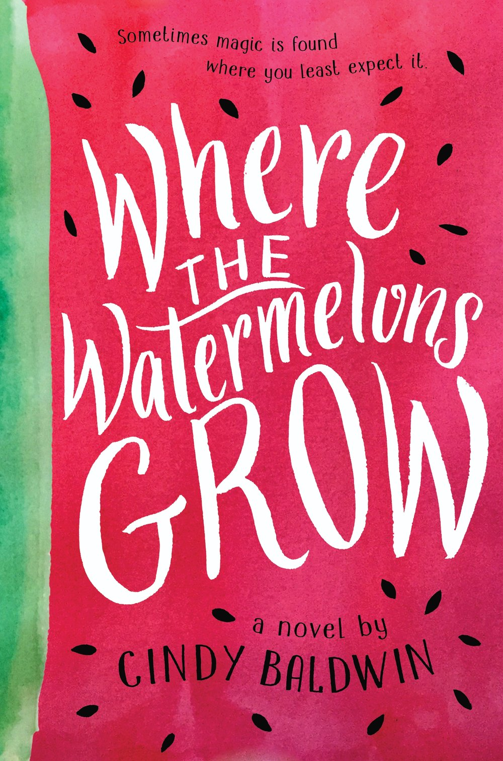 Happy book birthday to WHERE THE WATERMELONS GROW by Cindy Baldwin! - Fans of The Thing About Jellyfish and A Snicker of Magic will be swept away by Cindy Baldwin's debut middle grade about a girl coming to terms with her mother's mental illness.When twelve-year-old Della Kelly finds her mother furiously digging black seeds from a watermelon in the middle of the night and talking to people who aren't there, Della worries that it's happening again—that the sickness that put her mama in the hospital four years ago is back. That her mama is going to be hospitalized for months like she was last time.With her daddy struggling to save the farm and her mama in denial about what's happening, it's up to Della to heal her mama for good. And she knows just how she'll do it: with a jar of the Bee Lady's magic honey, which has mended the wounds and woes of Maryville, North Carolina, for generations.But when the Bee Lady says that the solution might have less to do with fixing Mama's brain and more to do with healing her own heart, Della must learn that love means accepting her mama just as she is.