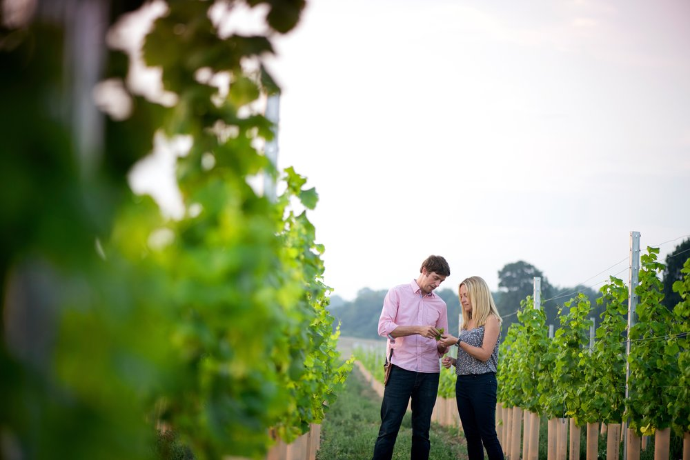 Flint Vineyard_Ben & Hannah Witchell in the vines.jpg