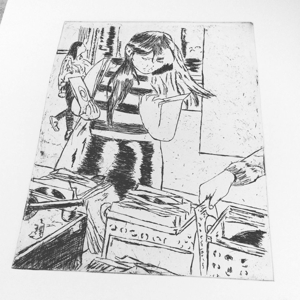 black line test print