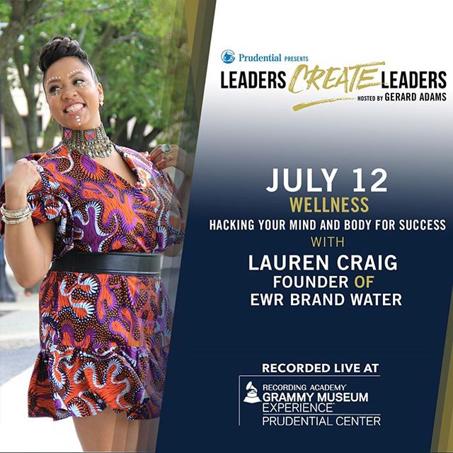 Ready to hear @inawordfab's tips on how to hack your mind and body for success? Join her one week from today at the #GRAMMYMuseumExp #Newark in the @prucenter for my LIVE guest appearance on #LeadersCreateLeaders podcast with @gerardadams. 👑 Grab your FREE ticket using my promo link: https://bit.ly/2tUBTrv (case sensitive)  This is gonna be good! 🙌🏾 #podcast #glambassador #ewrbrand #ewrwater #inawordfab