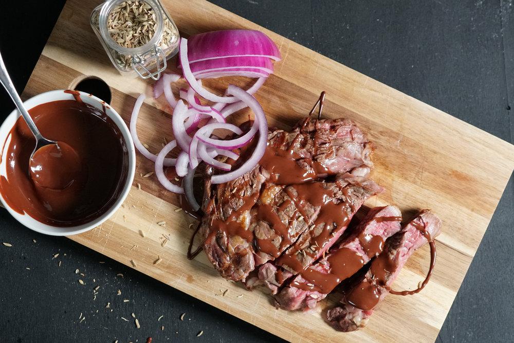 Grilled Steak with Fennel Chocolate Sauce F.jpg