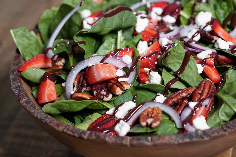 Spinach Salad with Strawberries, Pecans, Feta, Red Onion, and Chocolate Dressing A.jpg