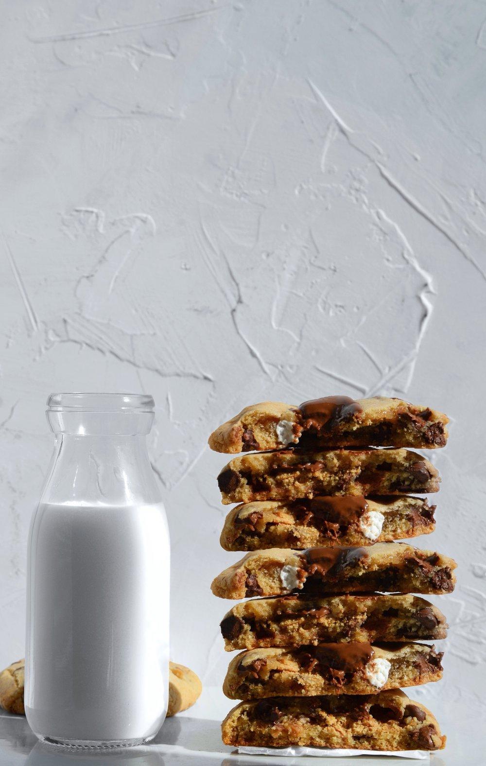 S'mores Stuffed Chocolate Chip Cookies | thymeforbreakfast.com.jpg