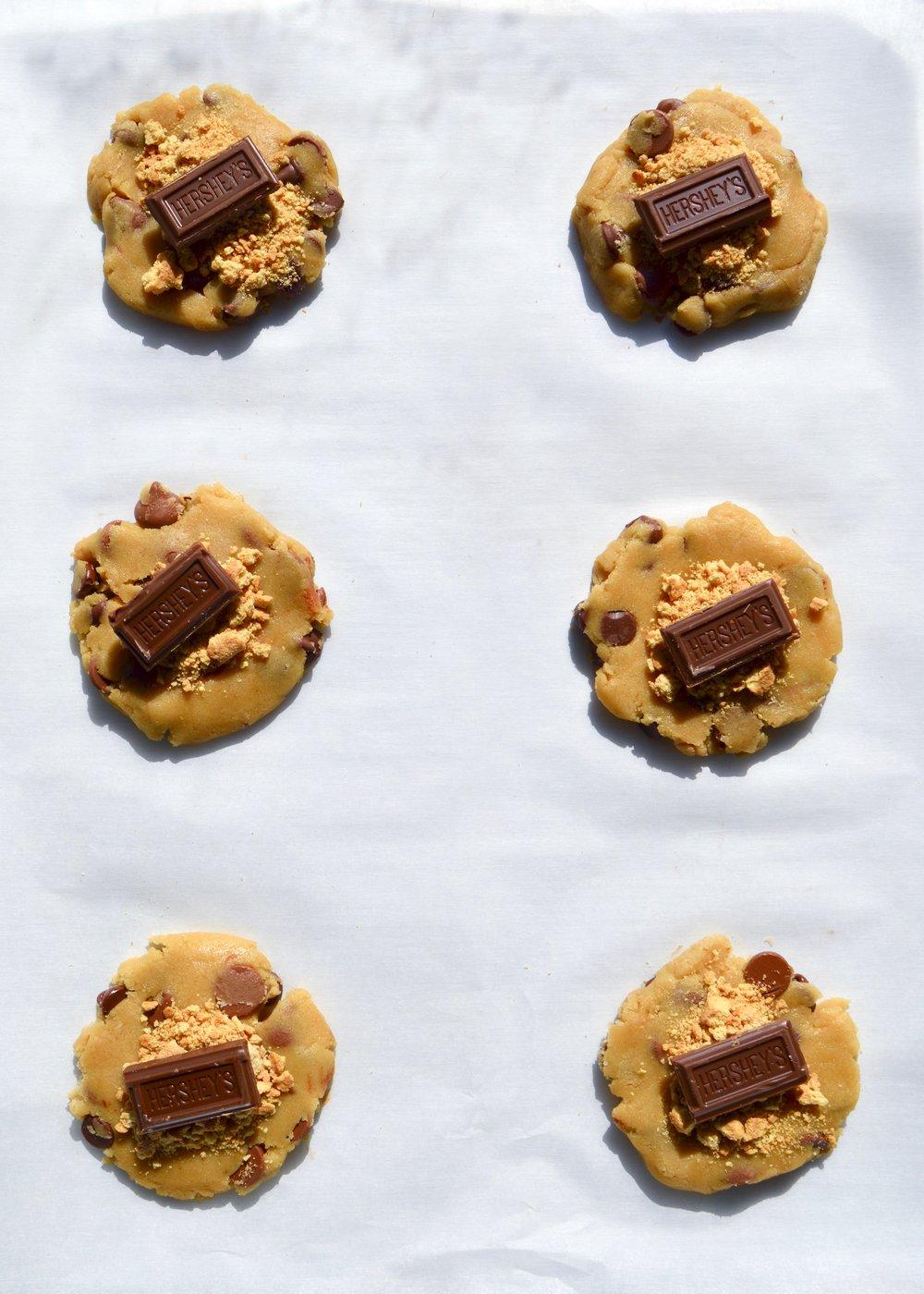 Smores Stuffed Chocolate Chip Cookies | thymeforbreakfast.com.jpg