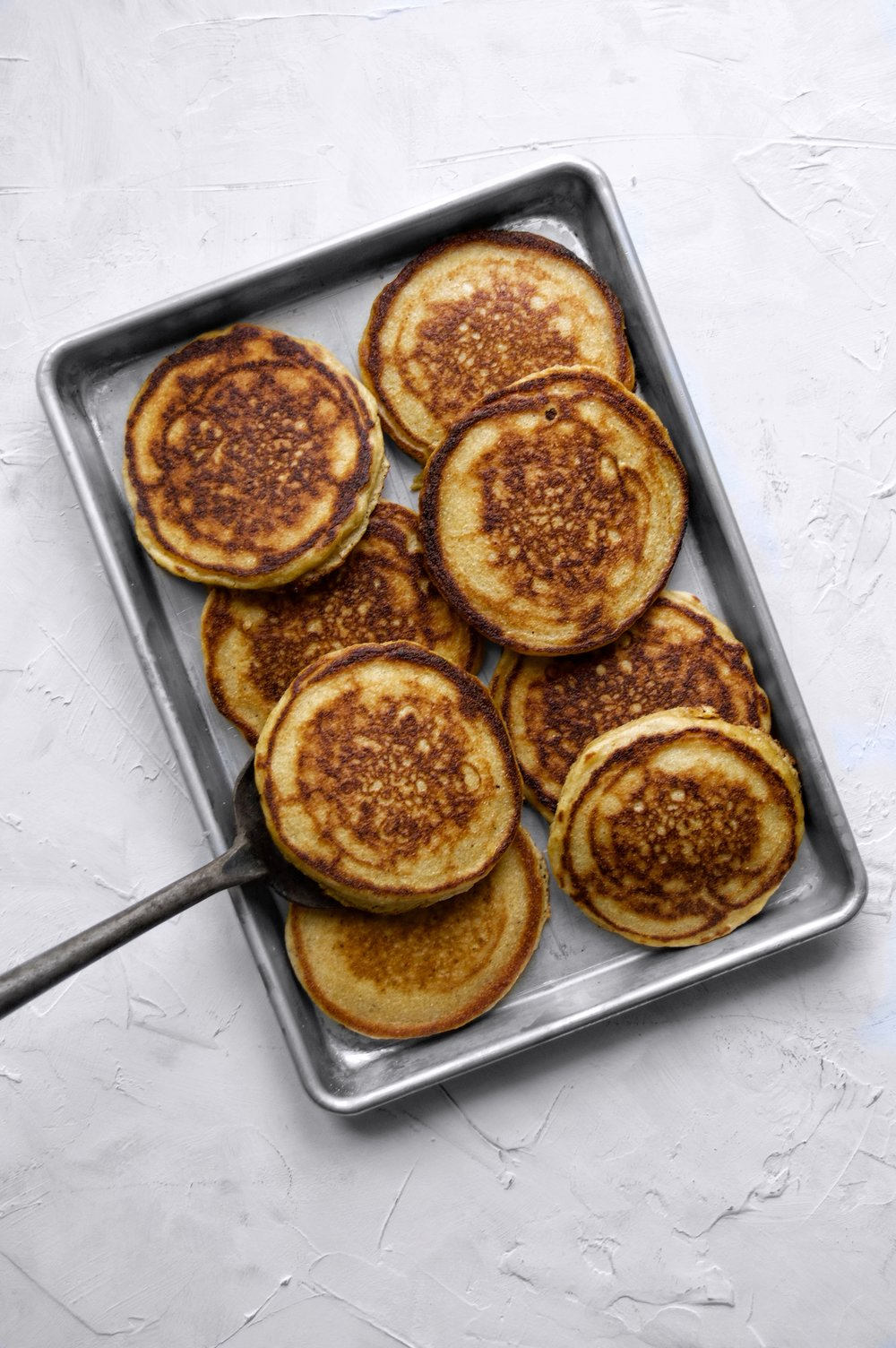 Brown Butter Cornmeal Pancakes | thymeforbreakfast.com.jpg
