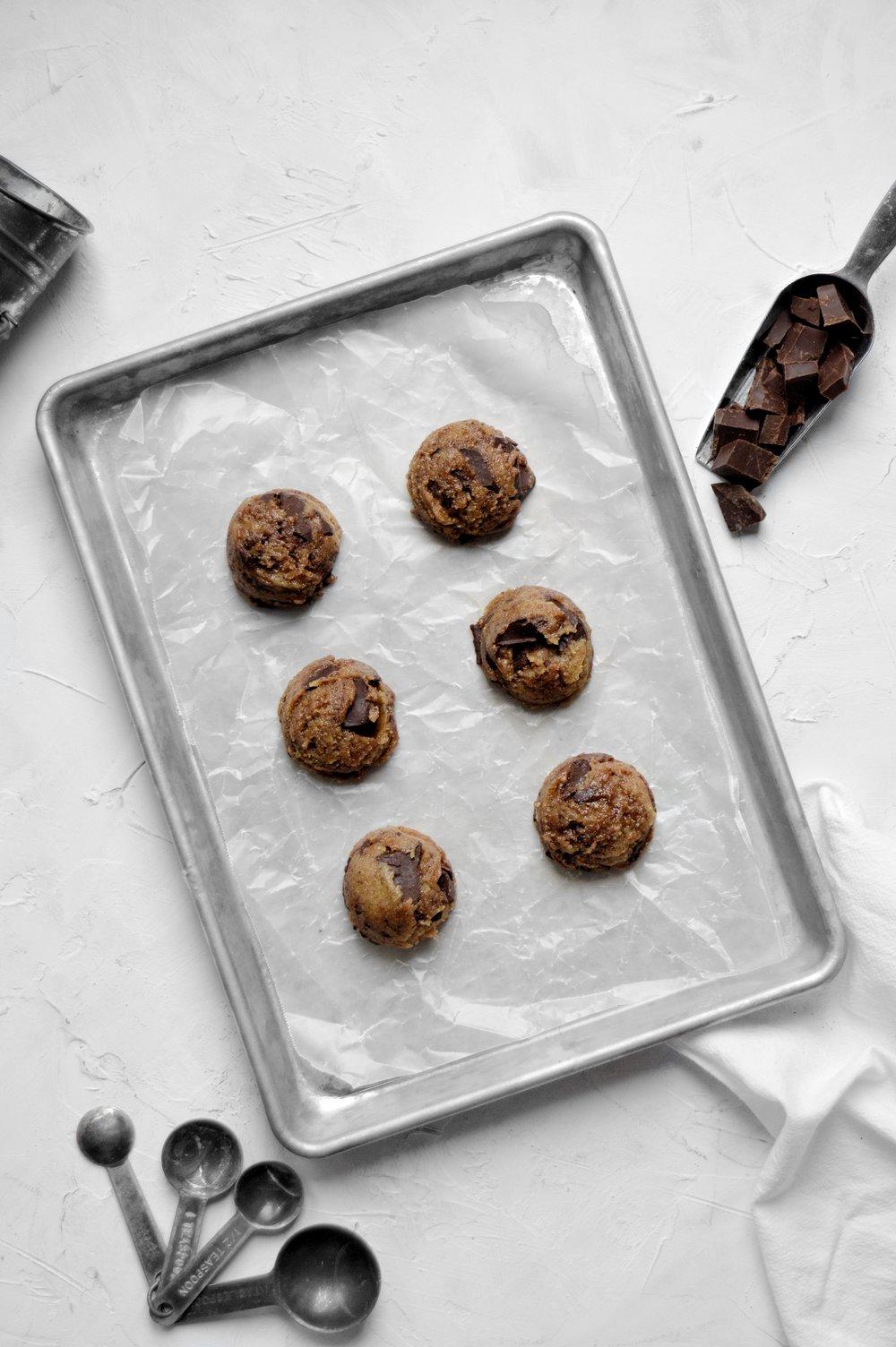 Vegan Tahini Chocolate Chunk Cookies | thymeforbreakfast.com .jpg