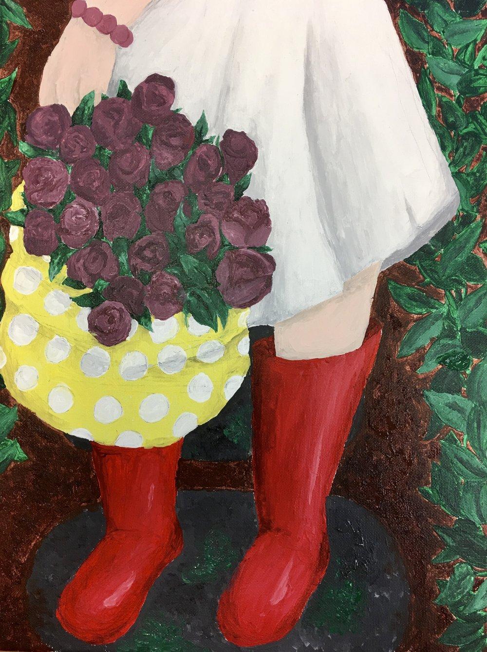 Abby, teen art class
