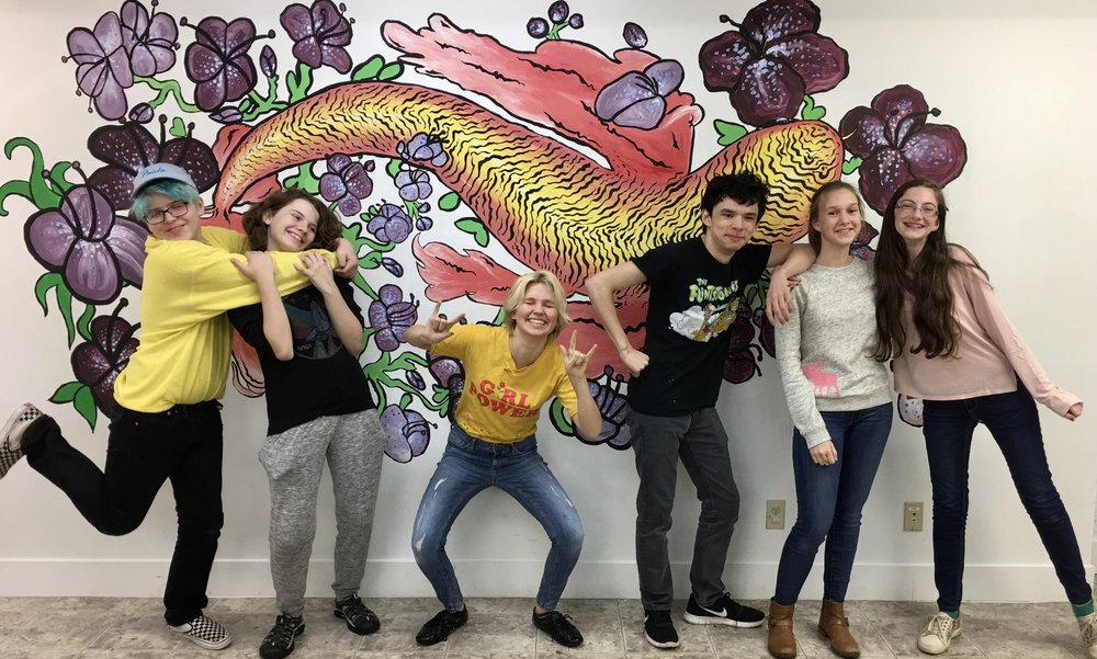 Mural by teen art class taught by Charlene Collins Freeman