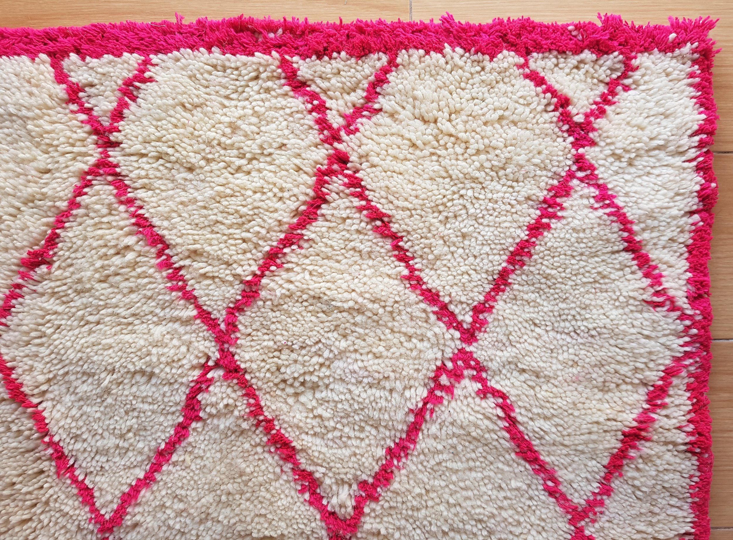 Picture of: Hot Pink Beni Ourain Rug Moroccan Rugs Occidentally In Love