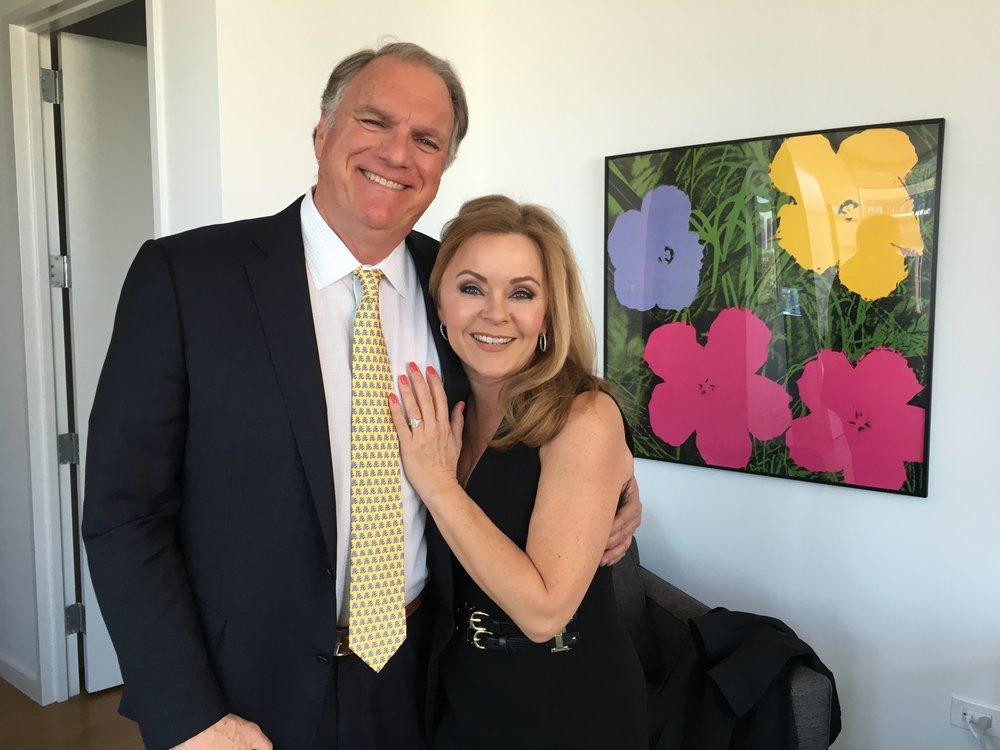 Jill Whelan with her fiancé, Jeff Knapple