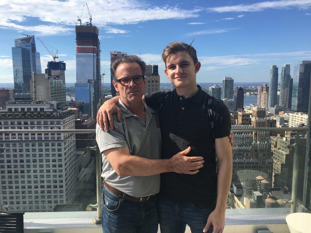 Peter Scolari and son Keaton Scolari