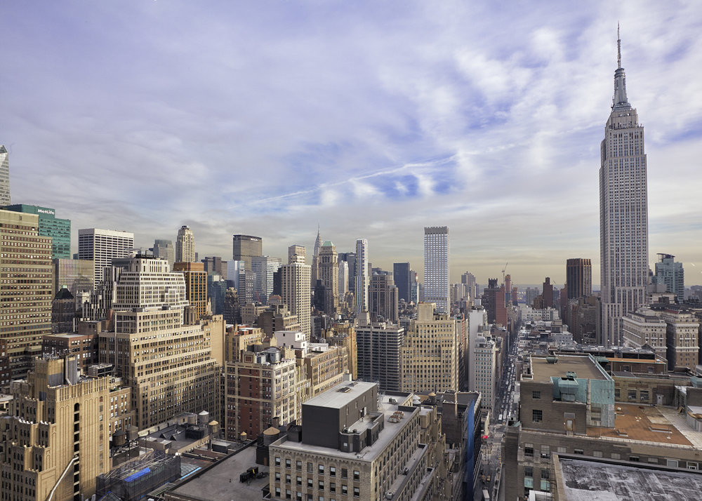 Just one of the fabulous views from the Renaissance New York Midtown Hotel