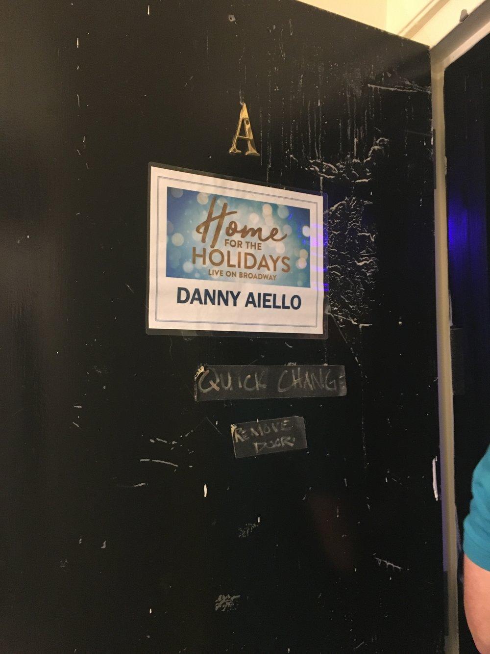 Danny - dressing room door.JPG