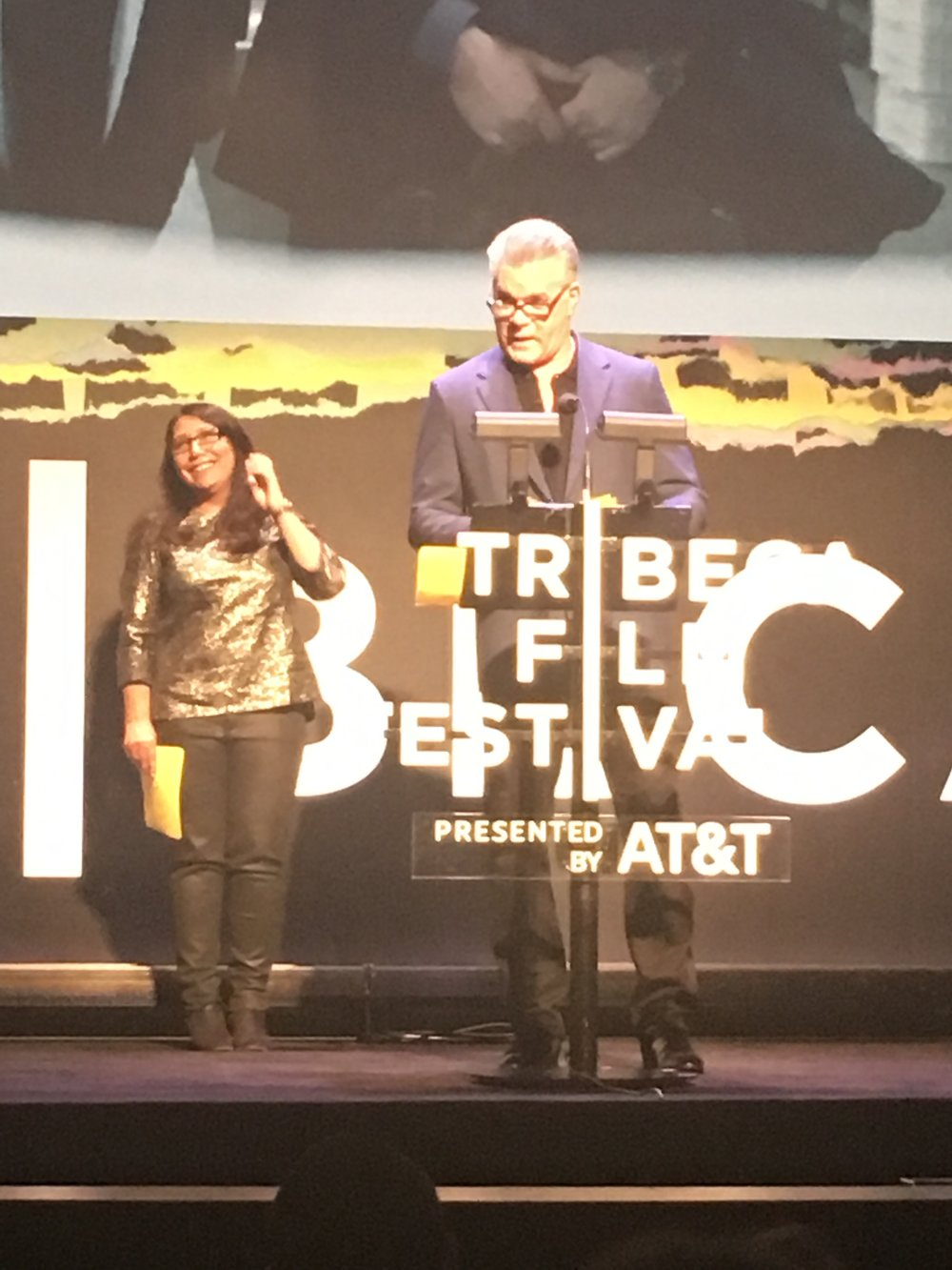 Ray Liotta from  Goodfellas  is on the Tribeca jury and announces a winner.