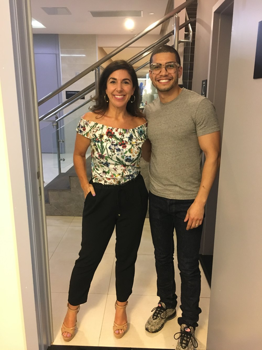 Rick Gonzalez and Kara Mayer Robinson.JPG