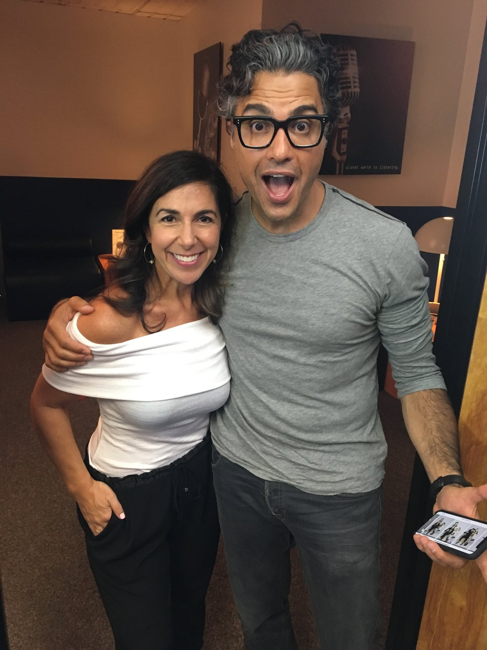 Jaime Camil and Kara Mayer Robinson for Really Famous podcast