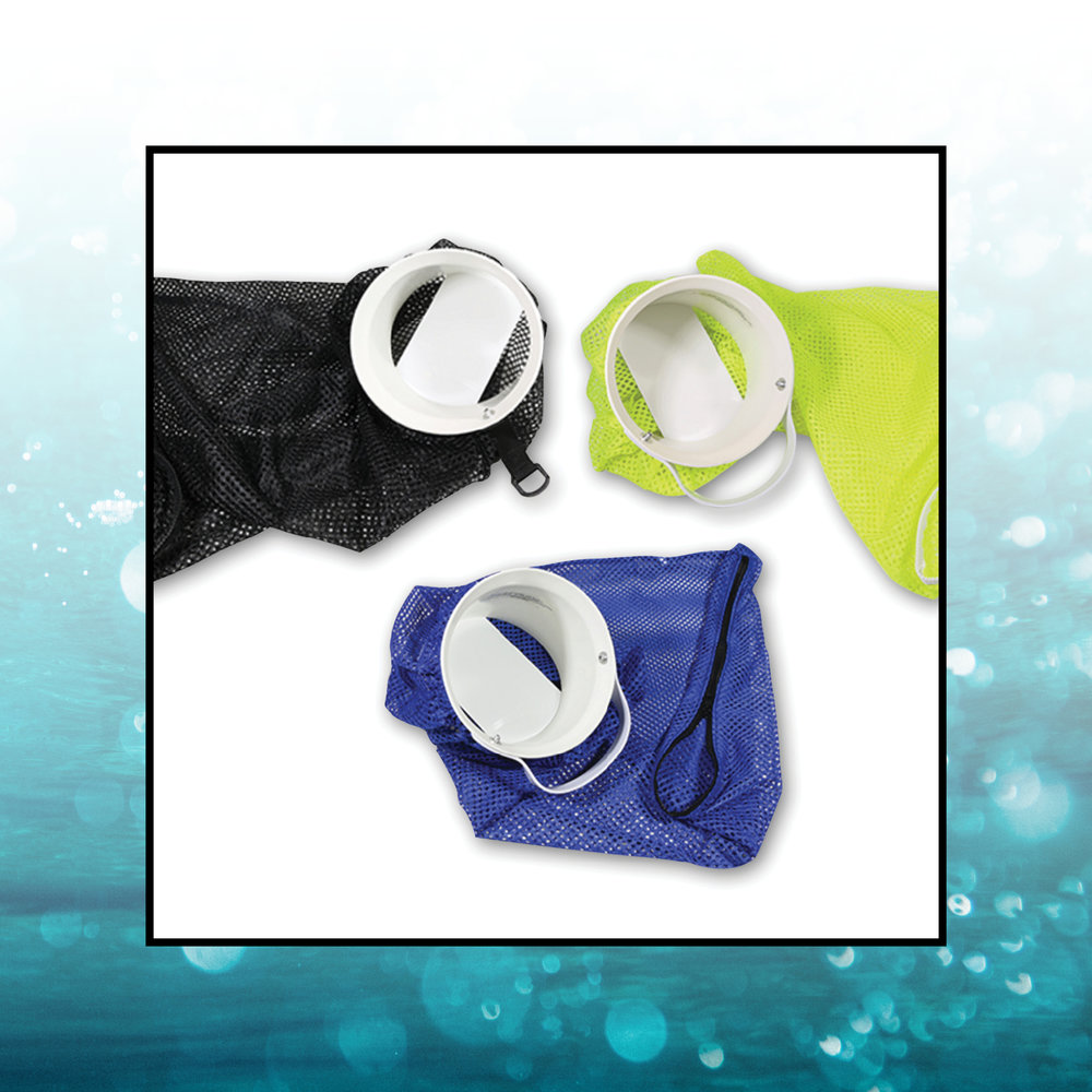 LOBSTER INN WITH MESH BAG - Durable one-way insert flap paired with a light-weight mesh bag.