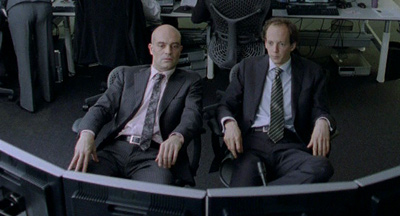 Stef (leon voorberg) & Ivan (oscar van rompay) waiting for a hedgefund to collapse