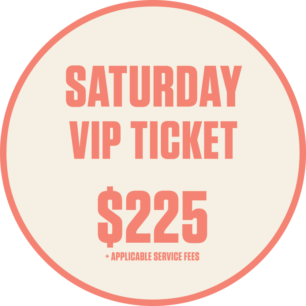 Saturday VIP Ticket