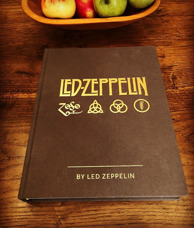 Reading and looking at Led Zeppelin by Led Zeppelin.  Photos picked out by the surviving members of the band celebrating 50 years! #rockandroll #ledzeppelin #jimmypage #robertplant #johnpauljones #stairwaytoheaven