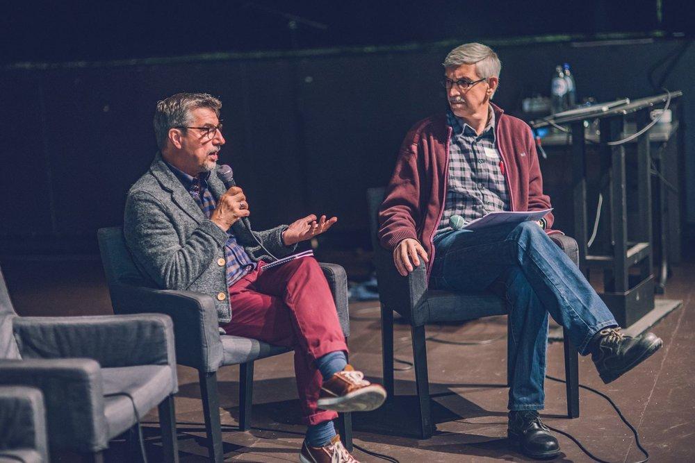 John Restakis en Jef Peeters ©Joachim De Wilde